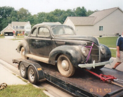 1940 Ford Coupe Project For Sale My 1939 ford standard coupe
