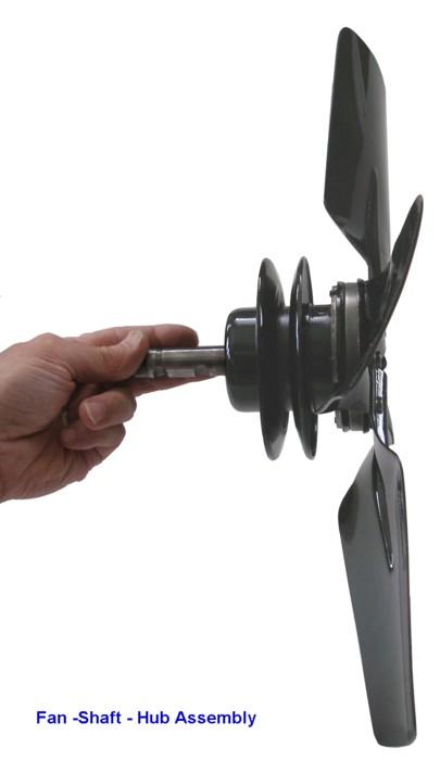 A Fan Hub Shaftassy A on Ford Flathead V8 Engine Parts