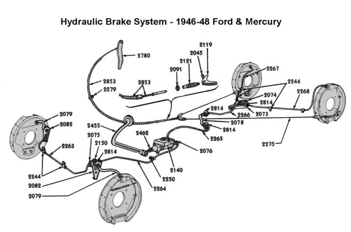 Looking for pics of rear brake hose area 39-48 - The Ford Barn