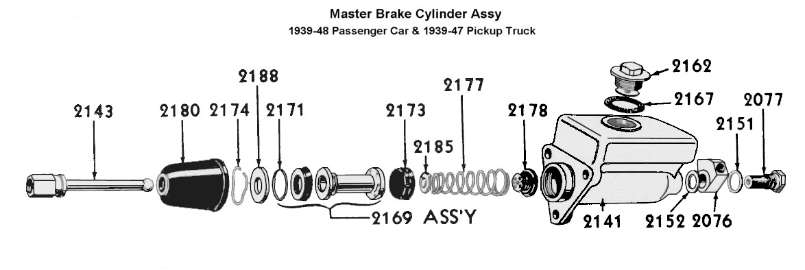 Flathead_Brakes_mastercylinder_1939to46 flathead parts drawings brakes master cylinder diagram at bayanpartner.co