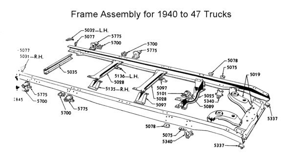 Flathead Parts Drawings- Suspensions