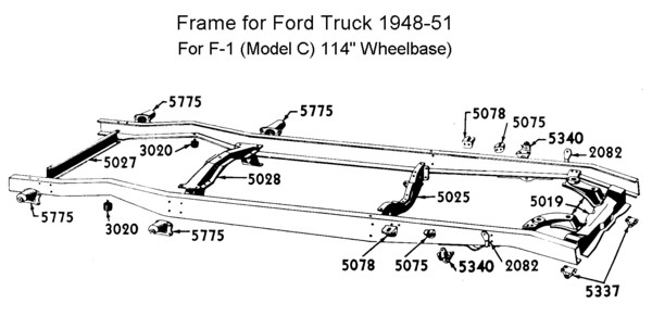 Flathead drawings chassis Frame on car vin number location