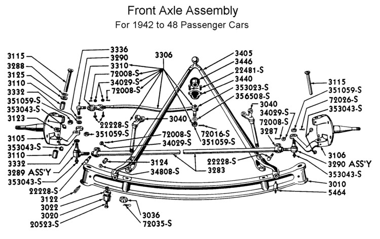 1941 1948 Ford Suspension Parts on f150 short bed dimensions