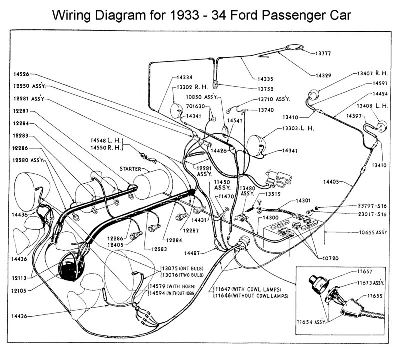 Flathead_Electrical_wirediagram1933 34car 1932 ford wiring diagram ford fairlane wiring diagram \u2022 wiring 1934 ford wiring harness at reclaimingppi.co