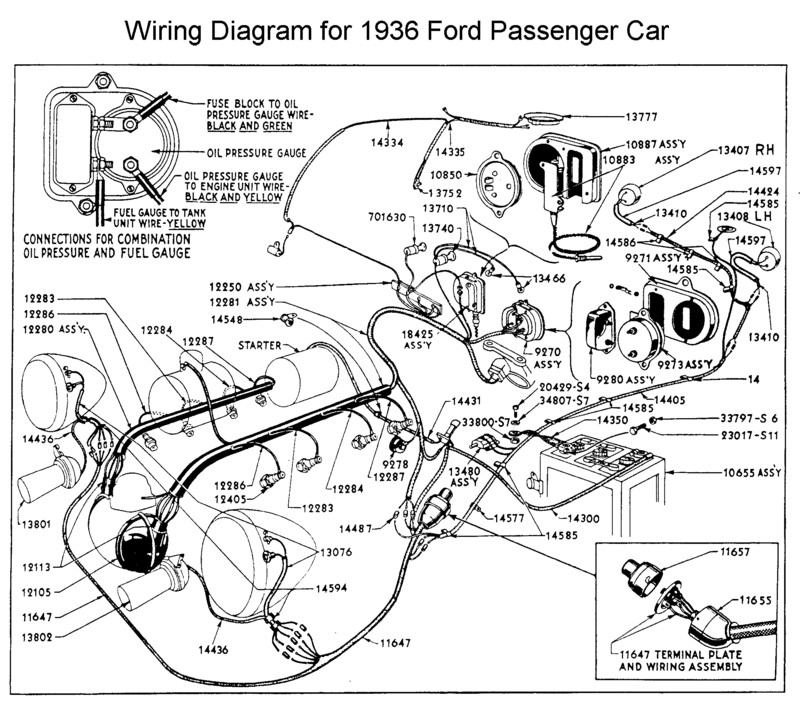 Classic Car Wiring Diagrams : Ford coupe nning fine the horn button on
