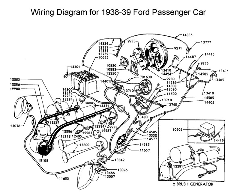 wiring diagram for 1938/39 ford