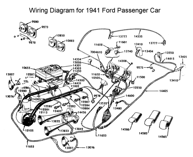 flathead electrical wiring diagrams Aircraft Electrical Harness wiring diagram for 1941 ford