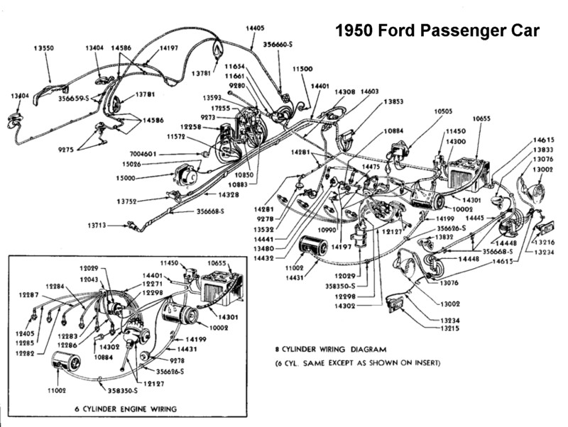 1950 Ford Car Dash Diagram on 1953 ford overdrive wiring diagram