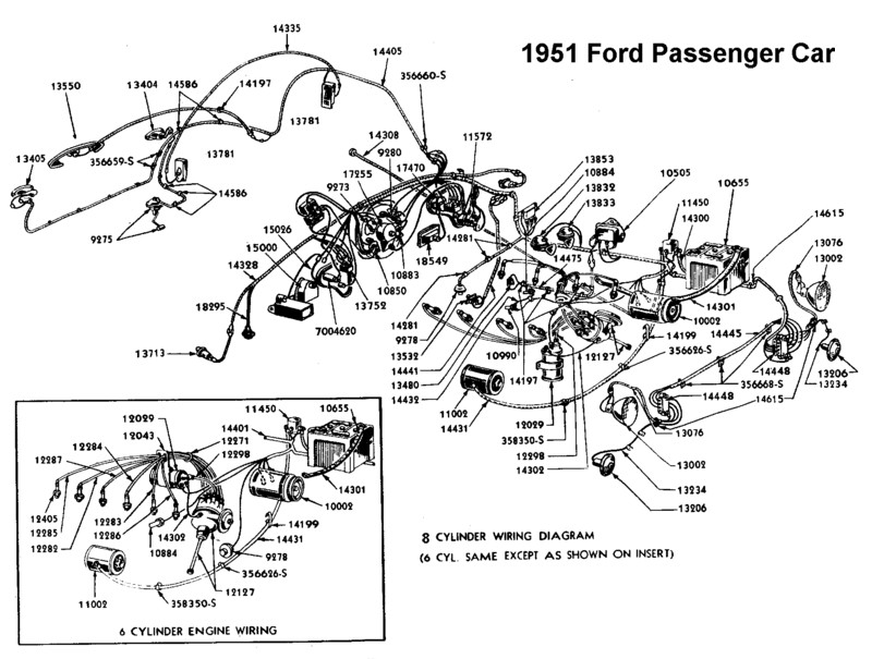 flathead electrical wiring diagrams wiring diagram for 1951 ford
