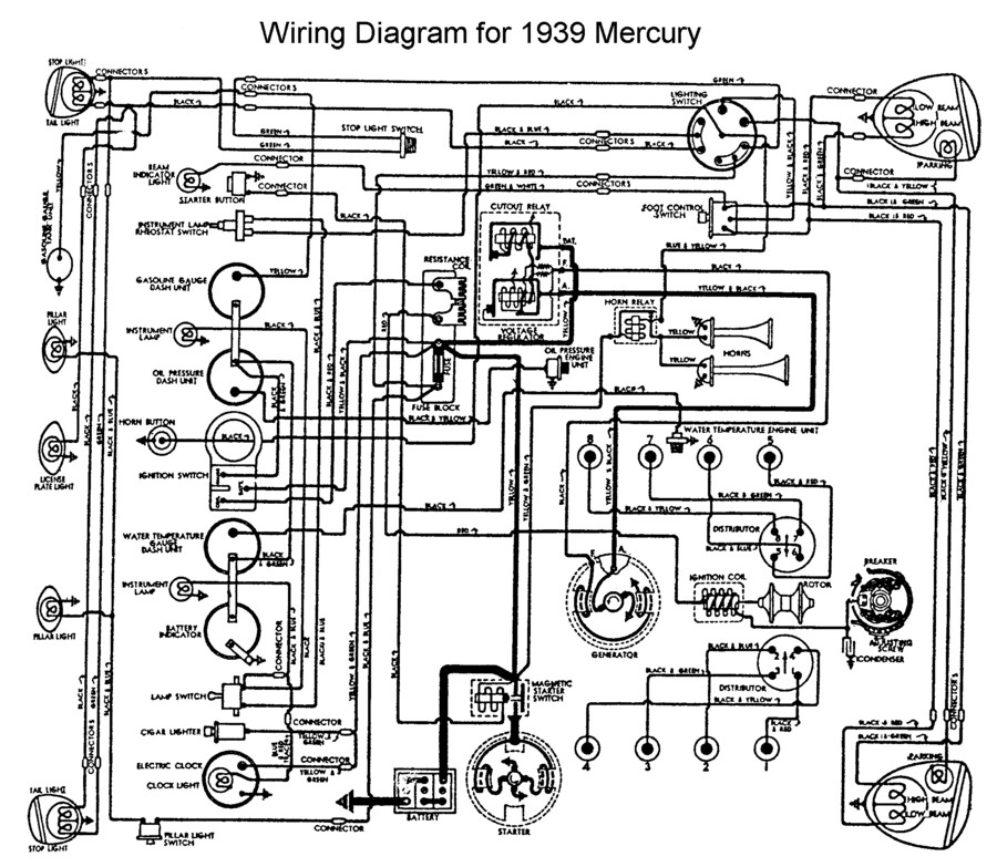 Flathead_Electrical_wiring1939merc flathead electrical wiring diagrams GM Headlight Wiring Harness at eliteediting.co
