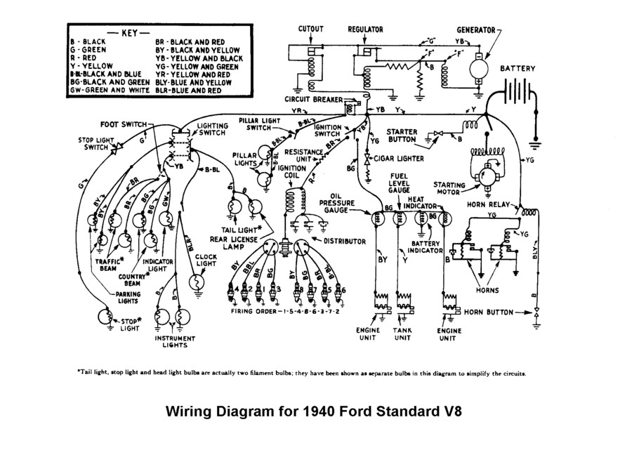 Flathead drawings electrical on 1950 ford car heater