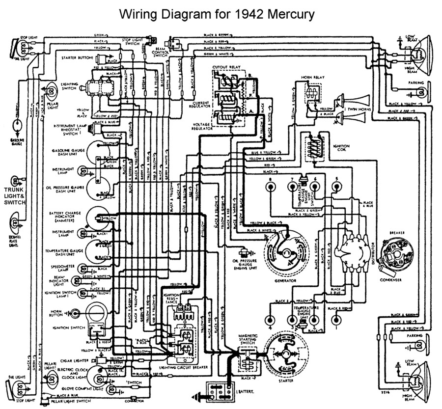 flathead electrical wiring diagrams rh vanpeltsales com Mercury 60 HP Wiring Diagram Mercury Outboard Motor Wiring Diagram