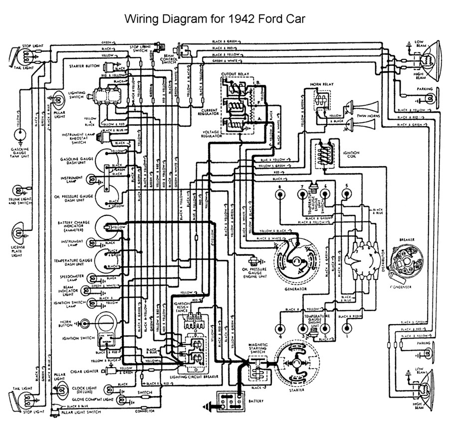 wiring for 1942 ford car