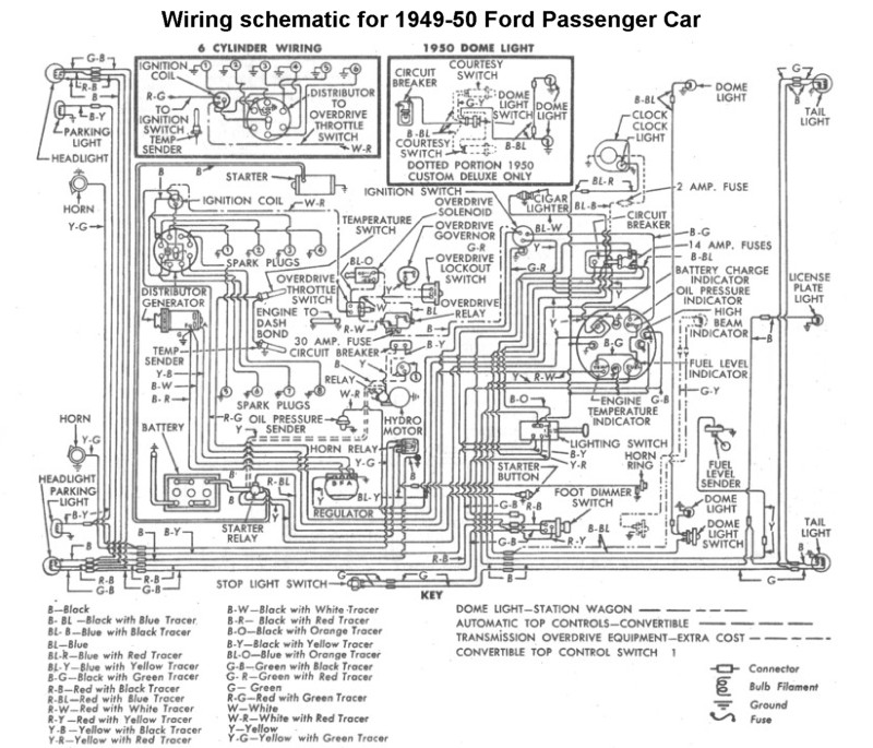 Flathead_Electrical_wiring1949 50car flathead electrical wiring diagrams,1951 Desoto Headlight Wiring Diagram