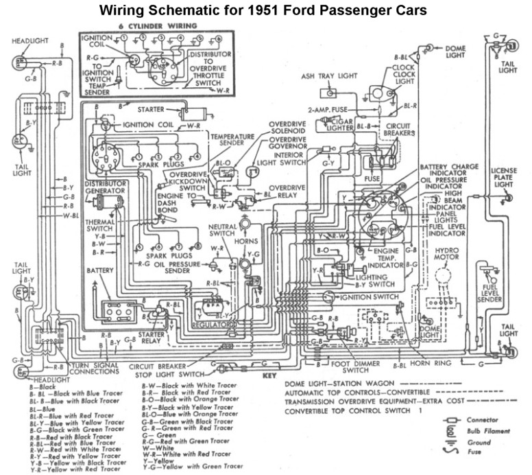 Flathead_Electrical_wiring1951car flathead electrical wiring diagrams,1951 Desoto Headlight Wiring Diagram