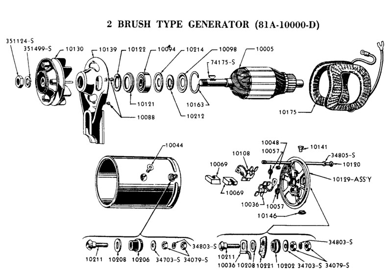 Flathead_Genrtr_2brush flathead electrical wiring diagrams 53 ford wiring diagram at bayanpartner.co