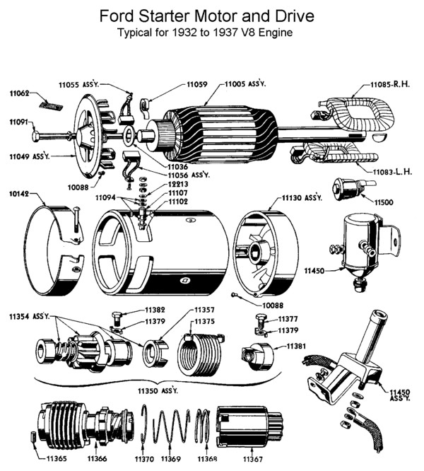 Flathead_starter_1932 37 flathead electrical wiring diagrams ford starter parts diagram at readyjetset.co