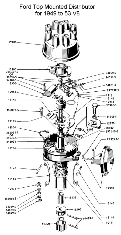 Flathead_Distributor_1949to53 flathead tuneup specifications for 1949 53 v8 (239 & 255),1946 Hudson Wiring Diagram
