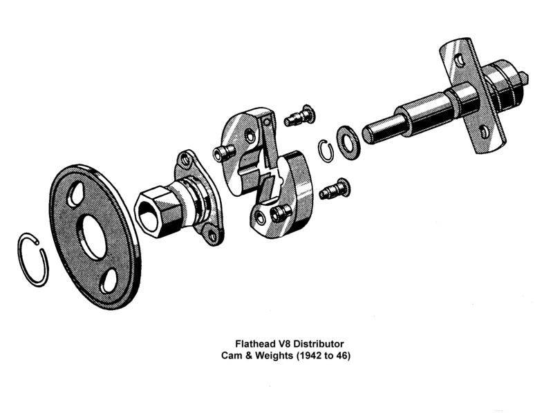 Flathead Distributor Camandweights To