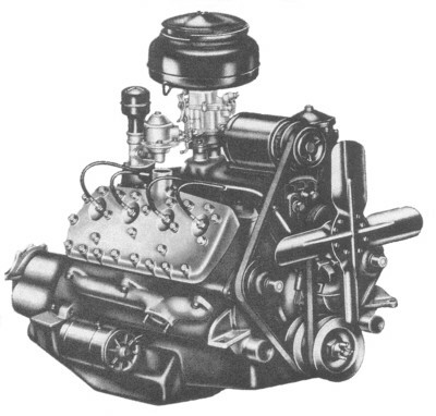 1950 Ford flat head engine