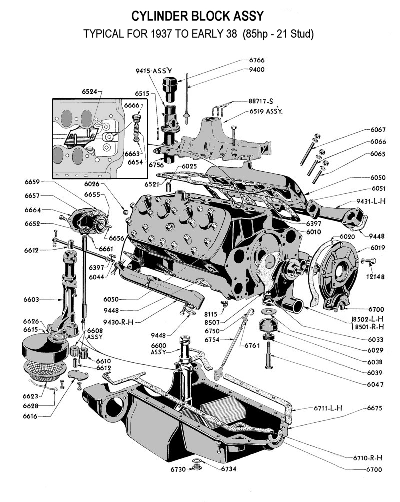 flathead parts drawings engines rh vanpeltsales com First Ford V8 Engine Henry Ford V8 Engine