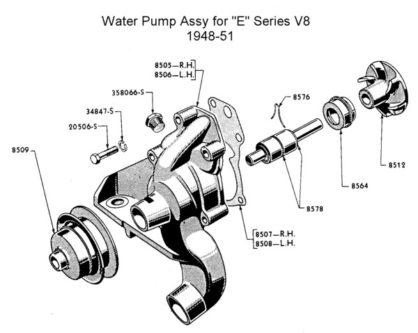 Flathead Engine Waterpmp Eseries