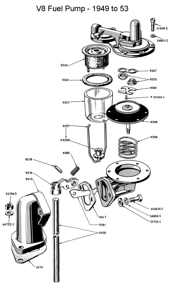 van pelt flathead fuel pump  van  free engine image for
