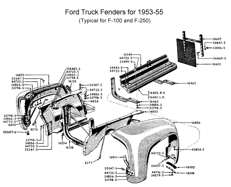 356456 48 52 Front Fender Braces on 1949 ford truck wiring diagram