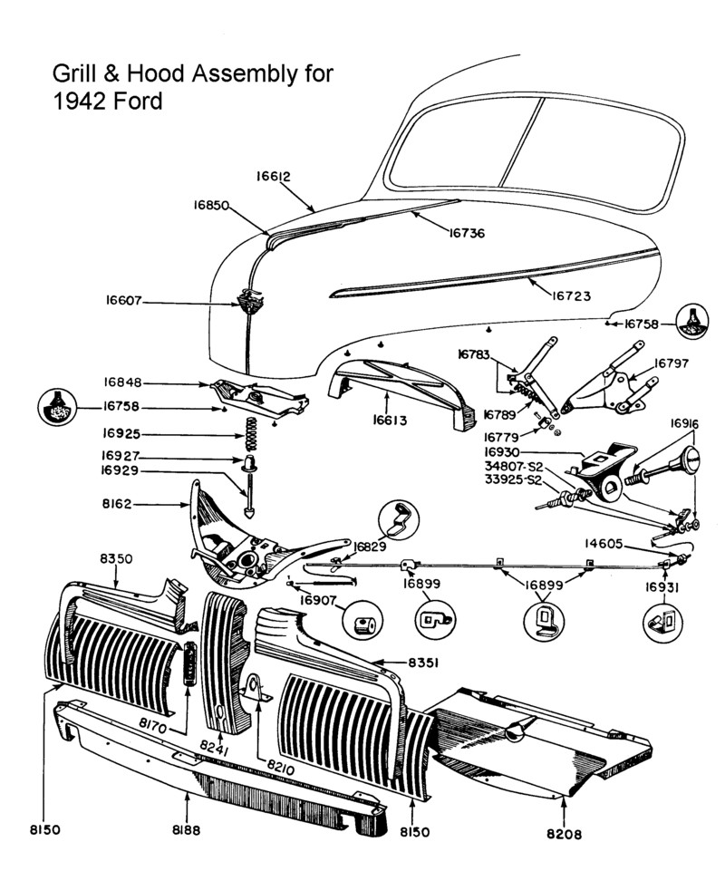 wiring diagram for 1940 chevy truck with 1941 Ford Grill For Sale Wiring Diagrams on 1934 Ford Wiring Schematic as well 55 Chevy Wiring Diagram further 9 Steering Gear E83w 3842 additionally 57 Chevy Belair Wiring Diagram further Jeep Parts M38a1 Wiring Diagram.