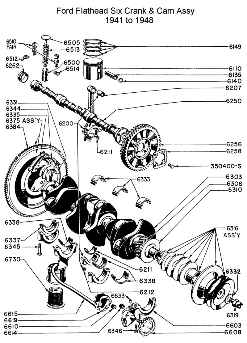 ford flathead six parts drawings for the six cylinder