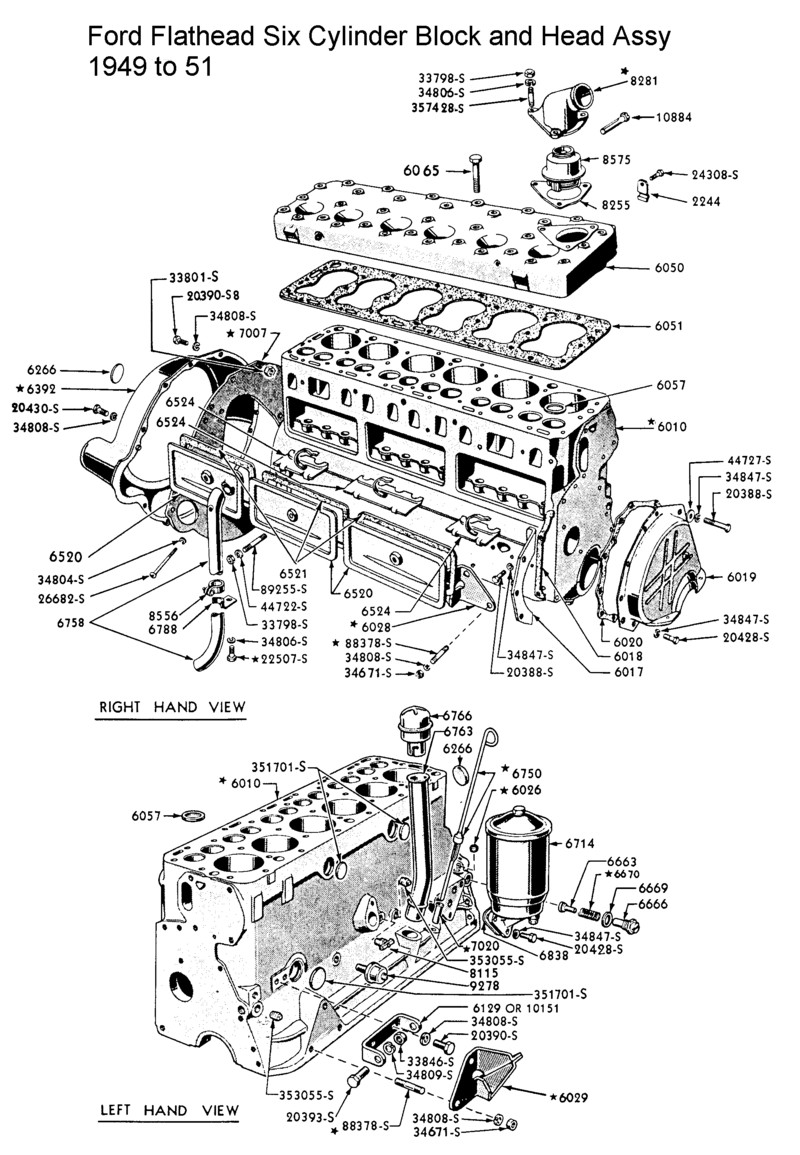 Ford 6 Cylinder Engine Diagram Wiring Libraries Flathead Schematics Simple Postford Six Parts Drawings For The