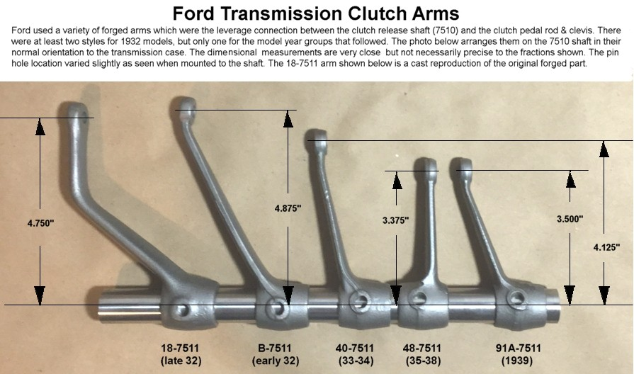 1939 Ford Clutch Linkage