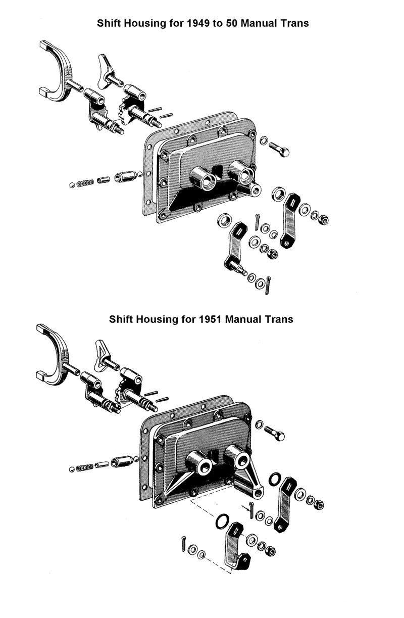 Flathead Parts Drawings Transmissions Ignition Circuit Diagram For The 1949 54 Lincoln V8 Gearshift Housing To 51 Ford