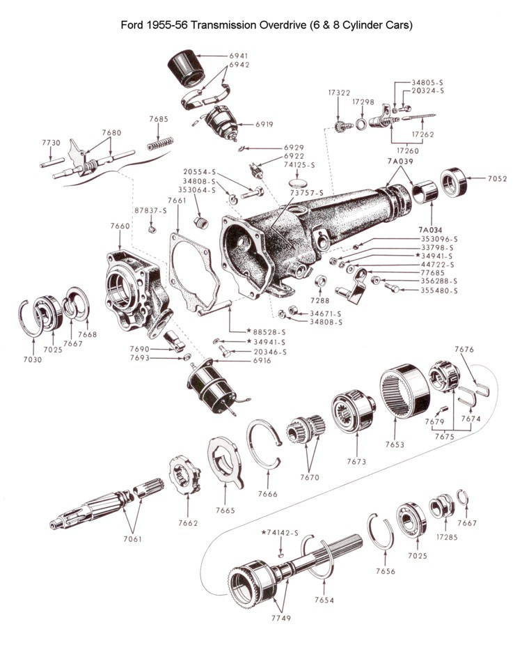Flathead Parts Drawings-Transmissions on