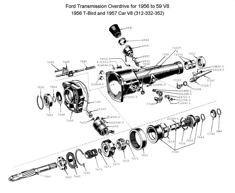 55 chevy wiper transmission diagram