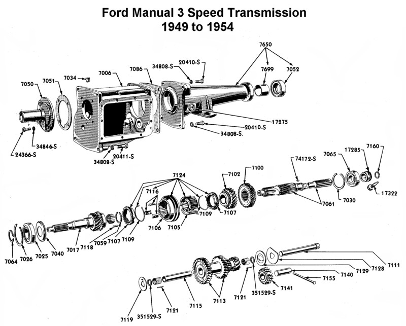 Ford 3 speed automatic transmission | Mustang Transmission Parts