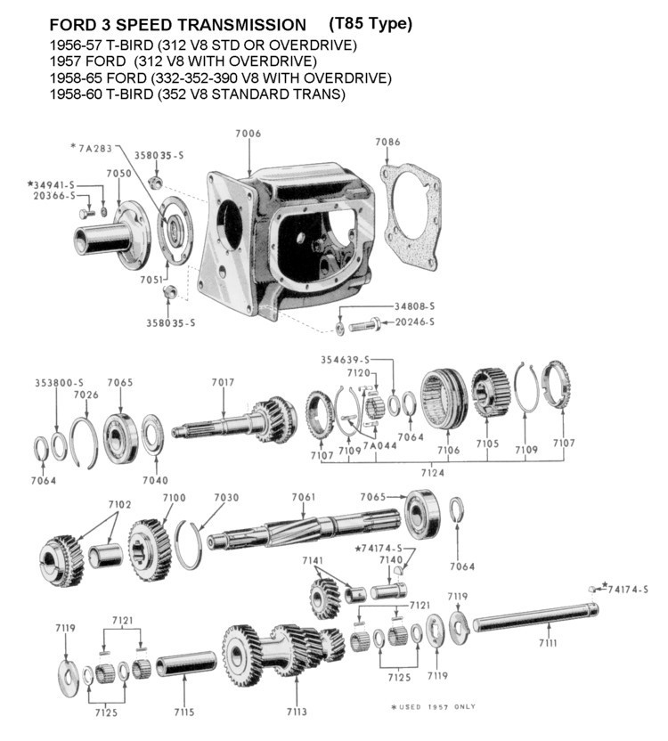 ford flathead v8 exploded view