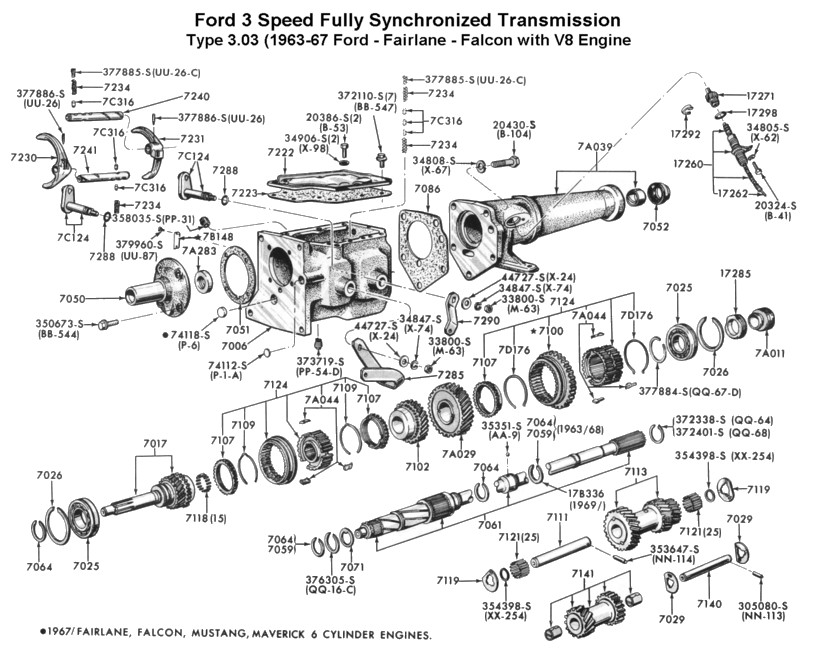Flathead drawings trans on 1963 falcon wiring