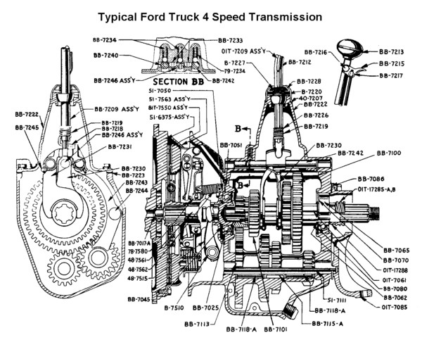 Ford truck four speed parts prices sciox Choice Image